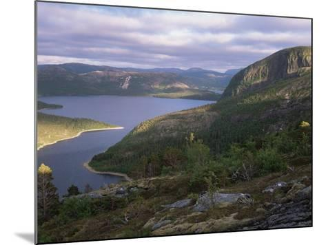 Late Evening Light Over Norwegian Fjord, Lausvnes, Nord-Trondelag, Norway, Europe-Pete Cairns-Mounted Photographic Print