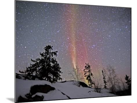 Northern Lights During Snow, Northwest Territories, March 2008, Canada-Eric Baccega-Mounted Photographic Print