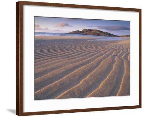 Sand Patterns on the Beach Coll Inner Hebrides, Scotland, UK-Niall Benvie-Framed Art Print