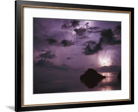 Lightning and Thunderstorm Over Sulu-Sulawesi Seas, Indo-Pacific Ocean-Jurgen Freund-Framed Art Print