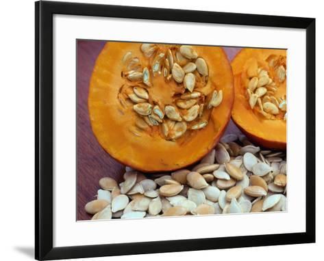 Sliced Pumpkin with Pumpkin Seeds (Cucurbita Sp) Europe-Reinhard-Framed Art Print