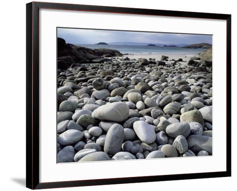 Stony Beach on Knoydart Peninsula, Western Scotland-Pete Cairns-Framed Art Print