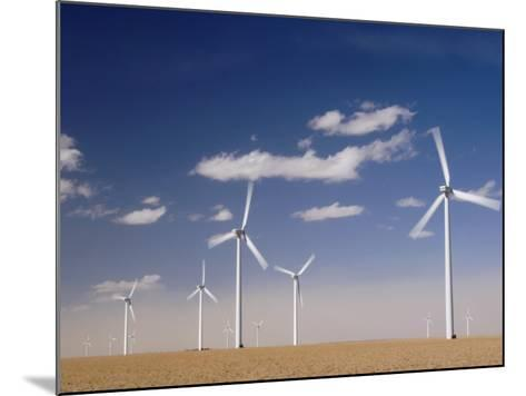 Wind Turbines for Generating Electricity, Two Buttes, Colorado, Usa, February 2006-Rolf Nussbaumer-Mounted Photographic Print