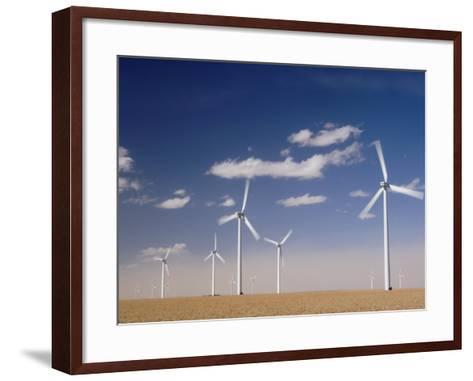 Wind Turbines for Generating Electricity, Two Buttes, Colorado, Usa, February 2006-Rolf Nussbaumer-Framed Art Print