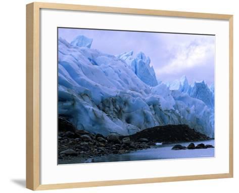 Perito Moreno Glacier and Terminal Moraine, Los Glaciares National Park, Argentina-Pete Oxford-Framed Art Print