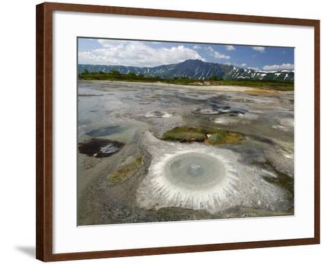 Thiobaccillus Bacteria Ring Around Hot Spring, Uzon Caldera, Kronotsky Zapovednik Reserve, Russia-Igor Shpilenok-Framed Art Print