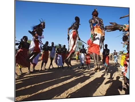 Samburu People Dancing, Laikipia, Kenya-Tony Heald-Mounted Photographic Print