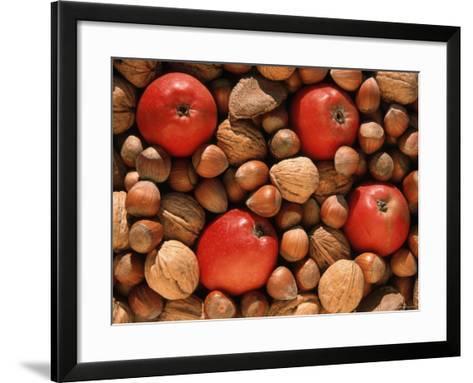 Apple, and Nut Harvest, Autumn Fruits-De Cuveland-Framed Art Print