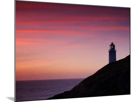 Trevose Lighthouse at Sunset, Near Padstow, Cornwall, Uk. July 2008-Ross Hoddinott-Mounted Photographic Print