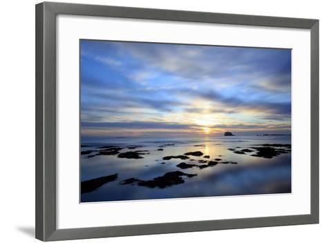 Bass Rock at Dawn, North Berwick, Scotland, UK, August. 2020Vision Book Plate-Peter Cairns-Framed Art Print