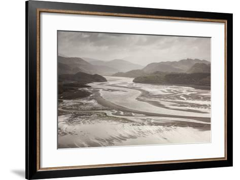 Mawddach Estuary at Low Tide, Barmouth, Snowdonia National Park, Gwynedd, Wales, May 2012-Peter Cairns-Framed Art Print