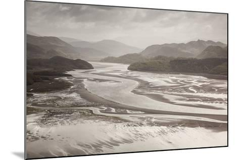 Mawddach Estuary at Low Tide, Barmouth, Snowdonia National Park, Gwynedd, Wales, May 2012-Peter Cairns-Mounted Photographic Print