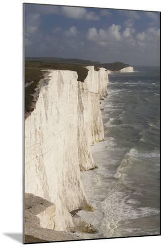 Seven Sisters Chalk Cliffs, South Downs, England-Peter Cairns-Mounted Photographic Print