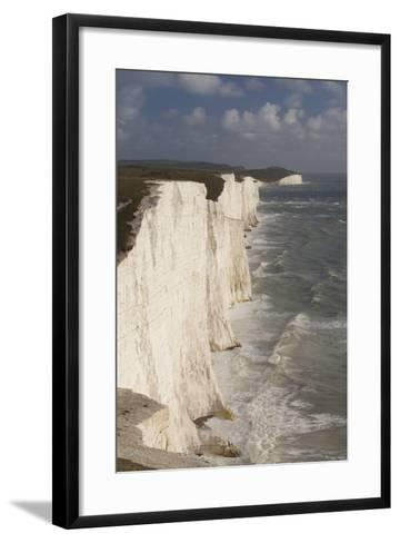 Seven Sisters Chalk Cliffs, South Downs, England-Peter Cairns-Framed Art Print