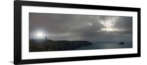 The Lighthouse at Cap Frehel at Night, Brittany, France-Philippe Clement-Framed Art Print