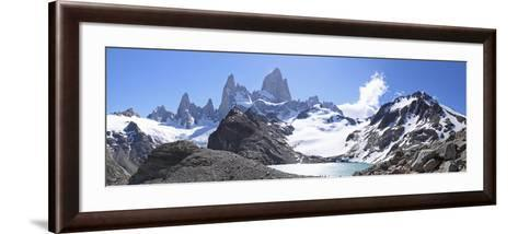 Mt Fitz Roy and Laguna Los Tres, Panoramic View, Fitzroy National Park, Argentina-Mark Taylor-Framed Art Print