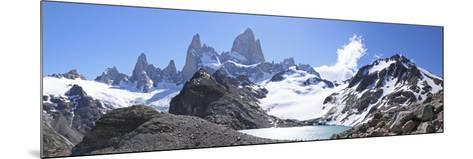 Mt Fitz Roy and Laguna Los Tres, Panoramic View, Fitzroy National Park, Argentina-Mark Taylor-Mounted Photographic Print