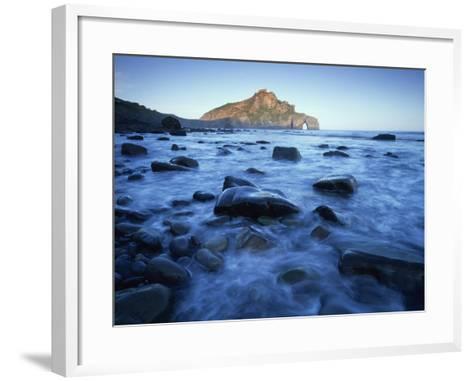 Landscape Gaztelugatxe Coast, Basque Country, Bay of Biscay, Spain, October 2008-Popp-Hackner-Framed Art Print