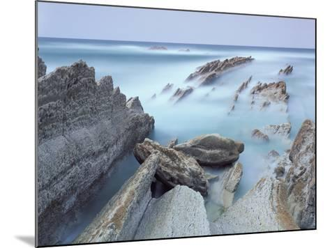 Rock Formations on Atxabiribil Beach, Basque Country, Bay of Biscay, Spain, October 2008-Popp-Hackner-Mounted Photographic Print