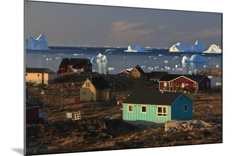 Coastal Settlement Houses, Saqqaq, Greenland, August 2009-Jensen-Mounted Photographic Print