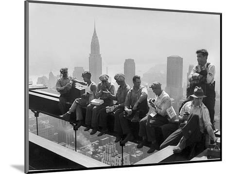 Construction Workers Take a Lunch Break on a Steel Beam Atop the RCA Building at Rockefeller Center--Mounted Photographic Print
