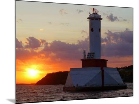 The Sun Sets Over Mackinac Island--Mounted Photographic Print