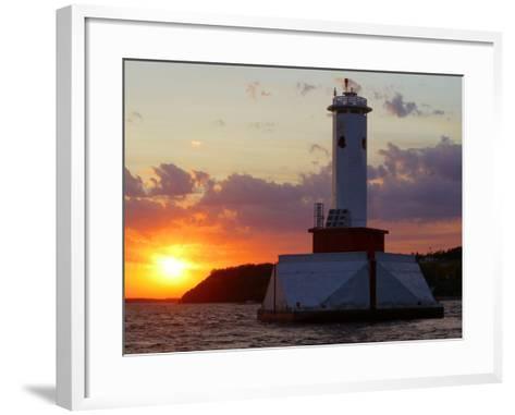 The Sun Sets Over Mackinac Island--Framed Art Print