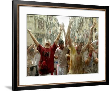Chupinazo the Official Opening of the 2005 San Fermin Fiestas--Framed Art Print