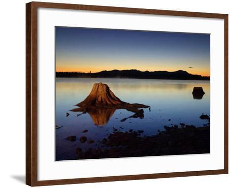 The First Light of Dawn Silhouettes the Katahdin Range East of Chesuncook Lake--Framed Art Print