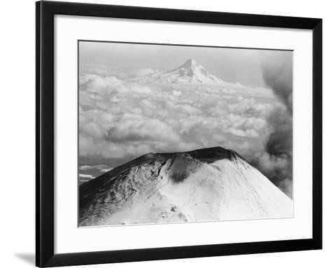 Craters Atop Mount St. Helens Stand Silent--Framed Art Print
