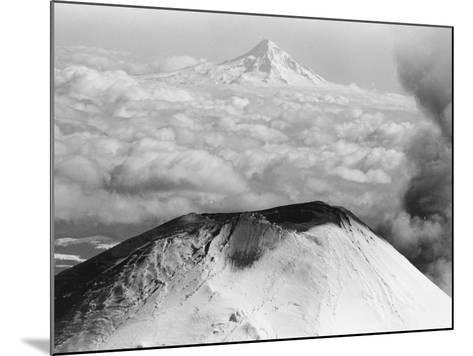 Craters Atop Mount St. Helens Stand Silent--Mounted Photographic Print