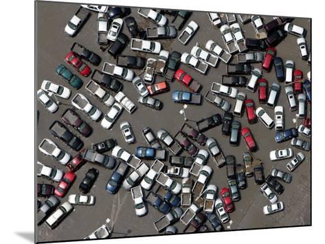 Vehicles Damaged by Hurricane Katrina--Mounted Photographic Print