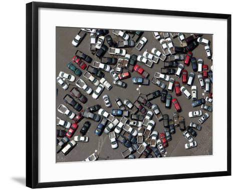 Vehicles Damaged by Hurricane Katrina--Framed Art Print