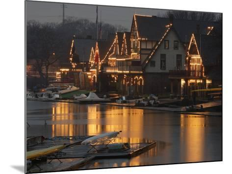A Portion of Philadelphia's Boathouse Row is Shown at Dusk Thursday--Mounted Photographic Print