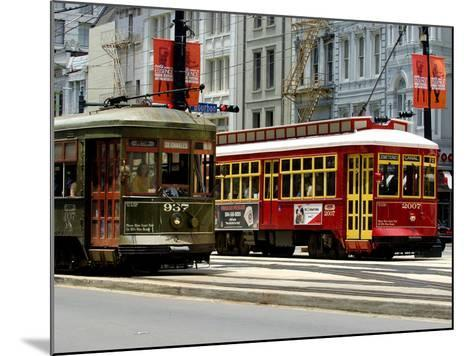 One of the 1920s Era Streetcars--Mounted Photographic Print