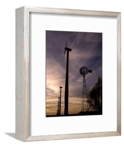 A Row of Wind Turbines-Charlie Riedel-Framed Art Print