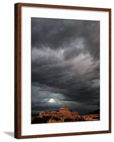 The Acropolis, Athens, Greece-Petros Giannakouris-Framed Art Print