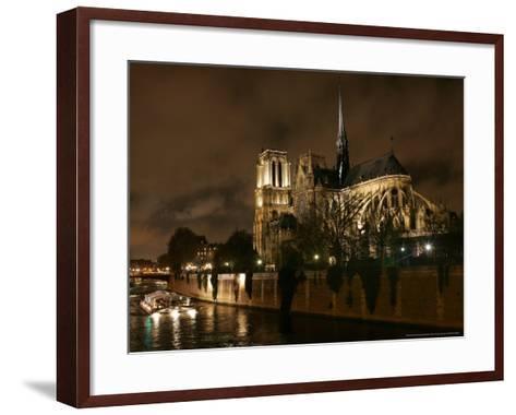 Notre Dame, Paris, France-Remy De La Mauviniere-Framed Art Print