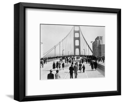Golden Gate Opening, San Francisco, California, c.1937--Framed Art Print