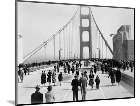 Golden Gate Opening, San Francisco, California, c.1937--Mounted Photographic Print
