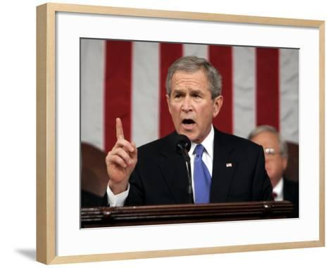 President Bush Delivers His Fifth State of the Union Speech--Framed Art Print