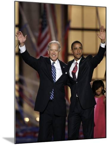Barack Obama and Joe Biden at the Democratic National Convention 2008, Denver, CO--Mounted Photographic Print