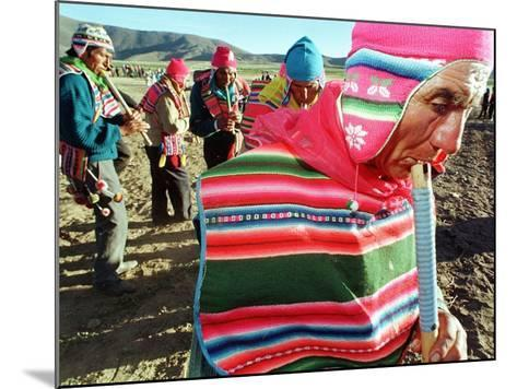 Aymara Indian Farmers Celebrate the Feast of the Cross--Mounted Photographic Print