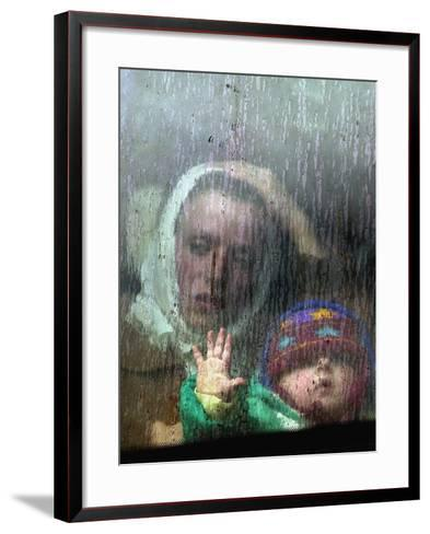 An Ethnic Albanian Refugee Woman--Framed Art Print