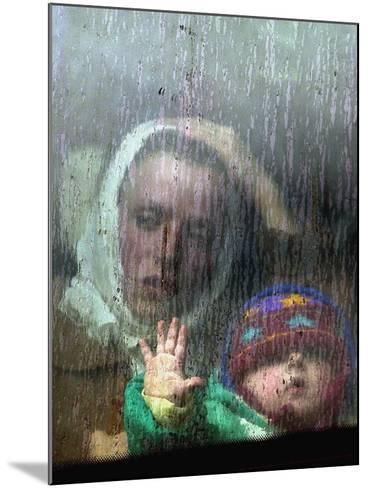 An Ethnic Albanian Refugee Woman--Mounted Photographic Print