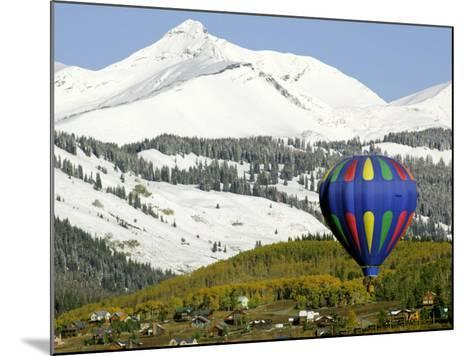 One of the Twelve Hot Air Balloons Takes Flight at Mount Crested Butte, Colorado--Mounted Photographic Print