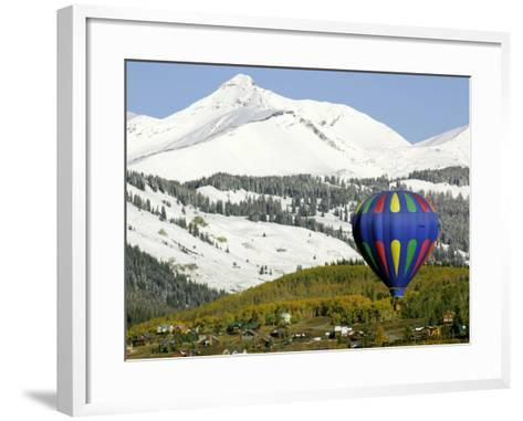 One of the Twelve Hot Air Balloons Takes Flight at Mount Crested Butte, Colorado--Framed Art Print