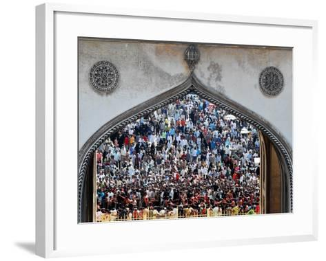 Indian Shiite Muslims Flagellate Themselves During a Procession, Hyderabad, India, January 30, 2007-Mahesh Kumar-Framed Art Print