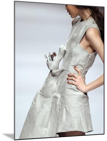 Model Displays a Creation by University Graduates During China Fashion Week in Beijing--Mounted Photographic Print
