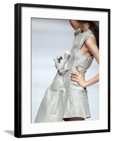 Model Displays a Creation by University Graduates During China Fashion Week in Beijing--Framed Art Print
